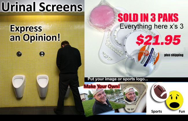 Custom Urinal Cakes Hillary Trump Sports Teams Political Figures Personalized Advertising Picture Screens